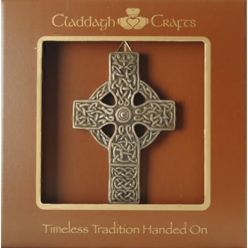 bronze celtic cross