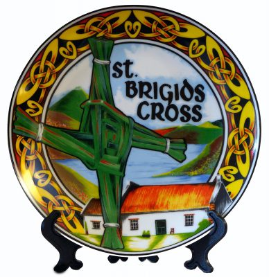 Saint Brigids Cross Plate 10 cm